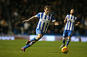 Brighton striker (on loan from Manchester United), James Wilson (21) during the Sky Bet Championship match between Brighton and Hove Albion and Wolverhampton Wanderers at the American Express Community Stadium, Brighton and Hove, England on 1 January 2016.