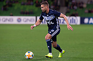 MELBOURNE, AUSTRALIA - APRIL 23: Jai Ingham (23) of Melbourne Victory controls the ball during the AFC Champions League Group Stage match between Melbourne Victory and Guangzhou Evergrande at AAMI Park on April 23, 2019 in Melbourne, Australia. (Photo by Speed Media/Icon Sportswire)