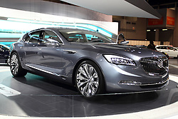"12 February 2015:  2016 BUICK AVENIR: A spectacular Buick concept will be on review for the first time at a Chicago Auto Show, Feb. 14-22, 2015. Buick calls the prototype, ""Avenir,"" which is French for future. The Avenir serves as a test vehicle to explore new styling and advanced technology that may transfer to future production models. More than 100 designers, sculptors and fabricators at GM's design studio near Melbourne, in Australia, and Buick's North American design center, in Warren, Mich., contributed to the project. Avenir's classic rear-wheel drive proportion and exterior design theme include Buick's signature sweep-spear body side motif, taught lines, a long hood, short overhangs, wheels-at-the-corners stance, and a nod to the ""boattail"" styling of the 1971-73 Rivera. A striking new grille design features a large opening accented by a return to the three-color – red, silver and blue – Buick tri-shield insignia, accented by wing-shaped elements. The grille is flanked by bold headlamps featuring full LED lighting. Avenir's sophisticated color palette, including a crystalline exterior color and strained use of bright work accent the Avenir's body lines. Within the personal four-passenger cabin there is a color palette of light and natural tones blended with oiled and buffed wood trim and Galvano satin-chrome accents. There are driver-recognition features that automatically sync infotainment preferences and Buick IntelliLink with large, 12-inch diagonal color touch screen. Keeping the interior fresh is an ionic air filtration system. Suggested powertrain consists of the next-generation direct-injected V-6 engine with fuel-saving active fuel management that deactivates cylinders when not need, stop/start technology, and nine-speed paddle-shift automatic transmission. A twin-clutch all-wheel drive system is featured, as is driver-selectable suspension. This is a must see concept car at the 107th annual Chicago Auto Show.<br /> <br /> First staged in"