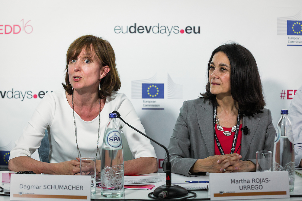 20160615 - Brussels , Belgium - 2016 June 15th - European Development Days - Gender , climate change and integrated risk reduction - Dagmar Schumacher , Director , Brussels Office , UN Women and Martha Rojas-Urrego , Head of Global Advocacy , CARE International - Moderator © European Union