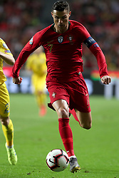 March 22, 2019 - Lisbon, Portugal - Portugal's forward Cristiano Ronaldo in action during the UEFA EURO 2020 group B qualifying football match Portugal vs Ukraine, at the Luz Stadium in Lisbon, Portugal, on March 22, 2019. (Credit Image: © Pedro Fiuza/NurPhoto via ZUMA Press)