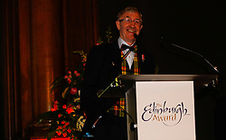 Pictured: <br /> Edinburgh Award for 2016 presented to Ken Buchanan at the city chambers. A ceremony at the City Chambers for the recipient of this year's award, Ken Buchanan, who was presented with a Loving Cup by the Lord Provost. He was also reunited with his hand-prints which have been set in a flagstone within the grounds of the City Chambers and see his name etched on the city&rsquo;s Edinburgh Award honour board <br /> <br /> Scott Louden | EEm 3 March 2017