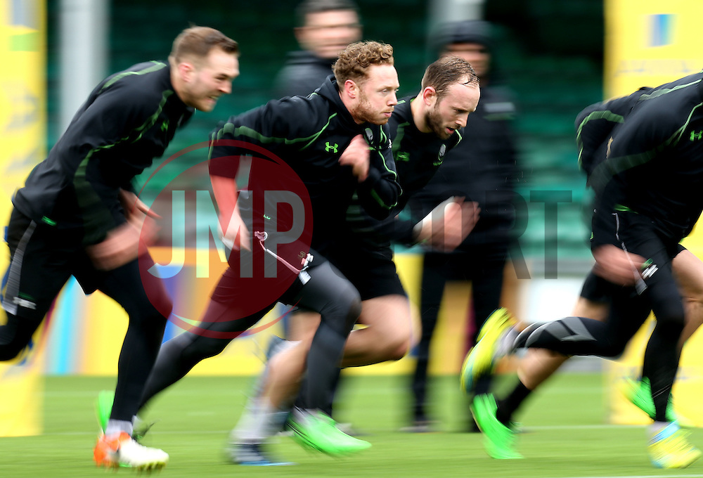 Luke Baldwin and Chris Pennell of Worcester Warriors in training - Mandatory by-line: Robbie Stephenson/JMP - 28/02/2017 - RUGBY - Sixways Stadium - Worcester, England - Worcester Warriors Training - 28/02/17