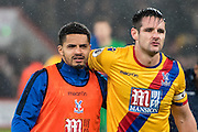 Crystal Palace defender Ezekiel Fryers (19), Crystal Palace defender Scott Dann (6) during the Premier League match between Bournemouth and Crystal Palace at the Vitality Stadium, Bournemouth, England on 31 January 2017. Photo by Sebastian Frej.