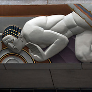 Art Deco Sculptural reiief on facade 30  Rockfeller Cente.