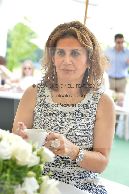 MONA KHASHOGGI at the St.Regis International Polo Cup at Cowdray Park, Midhurst, West Sussex on 17th May 2014.