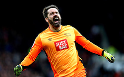 Scott Carson of Derby County celebrates teammate Thomas Ince scoring a goal - Mandatory by-line: Robbie Stephenson/JMP - 11/12/2016 - FOOTBALL - iPro Stadium - Derby, England - Derby County v Nottingham Forest - Sky Bet Championship