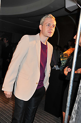 MR HUDSON at a party to launch PRPS's new luxury denim line called Noir whilst raising money for UNICEF Japan, held at Nobu Berkeley Street, London on 5th September 2011.