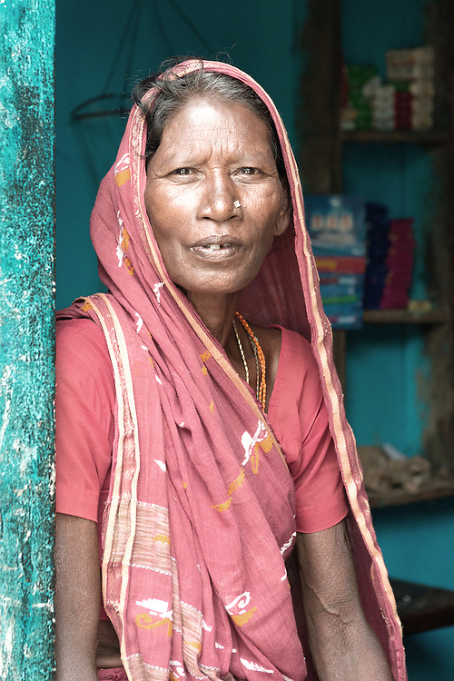 Portrait of an Indian lady