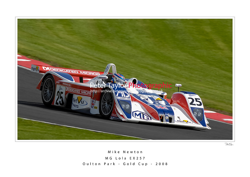 Mike Newton paraded his iconic MG Lola EX257 sportscar around Oulton Park Cheshire, as part of the Lola Racing Cars 50 years of racing. World Copyright: Peter Taylor/PSP. Copy of publication required for printed pictures. Every used picture is fee-liable.
