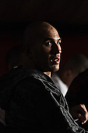 """MANCHESTER, ENGLAND, NOVEMBER 14, 2009: Brandon Vera is pictured during the post-fight press conference for """"UFC 105: Couture vs. Vera"""" inside the MEN Arena in Manchester, England"""