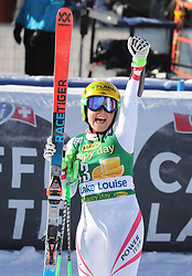 03.12.2017, Lake Louise, CAN, FIS Weltcup Ski Alpin, Lake Louise, Super G, Damen, im Bild Tamara Tippler (AUT) // Tamara Tippler of Austria reacts after the ladie's Super G of FIS Ski Alpine World Cup in Lake Louise, Canada on 2017/12/03. EXPA Pictures © 2017, PhotoCredit: EXPA/ SM<br /> <br /> *****ATTENTION - OUT of GER*****