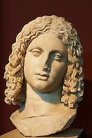 Grèce, Macédoine, Thessalonique, musee archeologique, tete d'Alexandre le Grand // Greece, Macedonia, Thessaloniki, archeological museum, Alexander the Great head