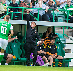 Alloa Athletic's manager Peter Grant. Hibernian 2 v 0 Alloa Athletic, Betfred Cup game played Saturday 20th July at Easter Road, Edinburgh.