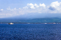 Java, Banyuwangi. The Java to Bali ferry, Bali in the background.