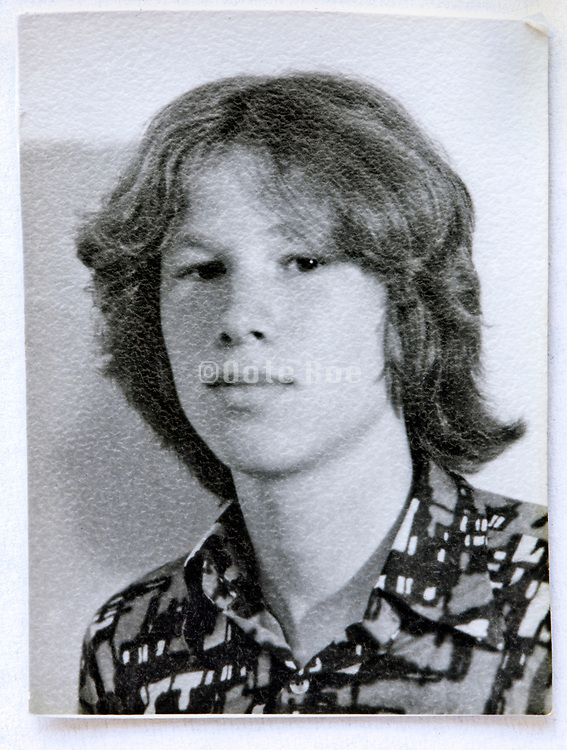 identity style portrait of young boy 1970s