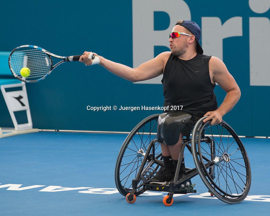 DYLAN ALCOTT(AUS), Rollstuhl Tennis<br /> <br /> Tennis - Brisbane International  2017 - ITF -  Pat Rafter Arena - Brisbane - QLD - Australia  - 7 January 2017. <br /> &copy; Juergen Hasenkopf