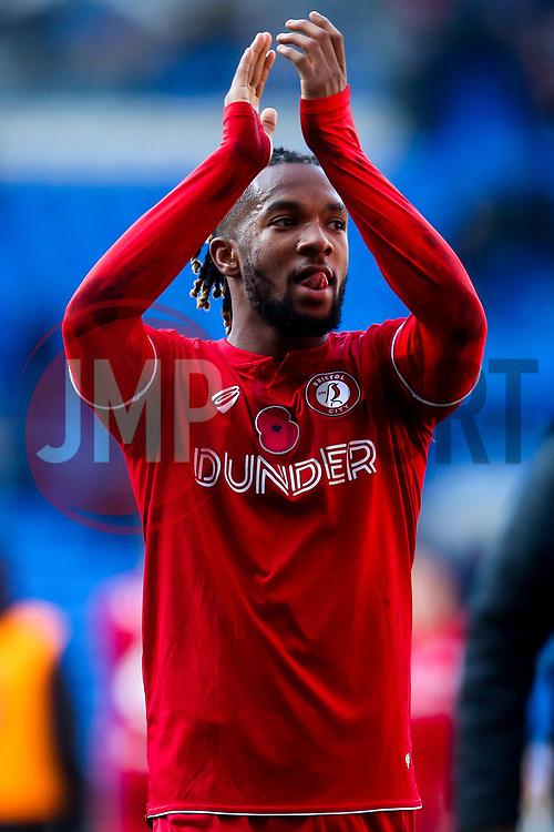 Kasey Palmer of Bristol City celebrates beating Cardiff City - Mandatory by-line: Robbie Stephenson/JMP - 10/11/2019 -  FOOTBALL - Cardiff City Stadium - Cardiff, Wales -  Cardiff City v Bristol City - Sky Bet Championship