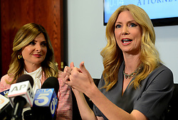 April 3, 2017 - Woodland Hills, California, U.S. - Dr. WENDY WALSH talks about Bill O'Reilly and sexual harassment at Lisa Bloom's law office. (Credit Image: © Los Angeles Daily News via ZUMA Wire)