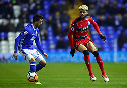 Craig Gardner of Birmingham City takes on Jason Lowe of Birmingham City - Mandatory by-line: Robbie Stephenson/JMP - 06/02/2018 - FOOTBALL - St Andrew's Stadium - Birmingham, England - Birmingham City v Huddersfield Town - Emirates FA Cup fourth round proper