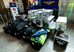 Bags during departure of Slovenia Olympic Team for PyeongChang 2018, on February 6, 2018 in Airport Joze Pucnik, Brnik, Slovenia. Photo by Morgan Kristan / Sportida