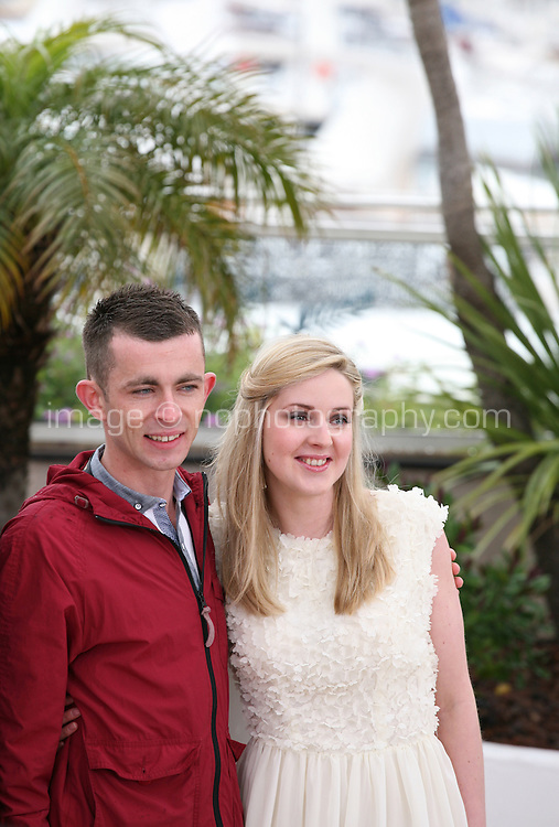 Siobhan Reilly, Paul Laverty,. at  The Angel?s Share photocall at the 65th Cannes Film Festival France. The Angel's Share is directed by Ken Loach. Tuesday 22nd May 2012 in Cannes Film Festival, France.