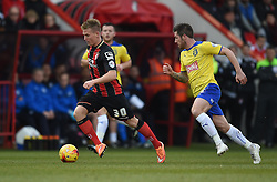 Bournemouth's Matt Ritchie in action during the Sky Bet Championship match between AFC Bournemouth and Huddersfield Town at Goldsands Stadium on 14 February 2015 in Bournemouth, England - Photo mandatory by-line: Paul Knight/JMP - Mobile: 07966 386802 - 14/02/2015 - SPORT - Football - Bournemouth - Goldsands Stadium - AFC Bournemouth v Huddersfield Town - Sky Bet Championship