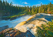 The Grass River plunges at Pisew Falls<br />