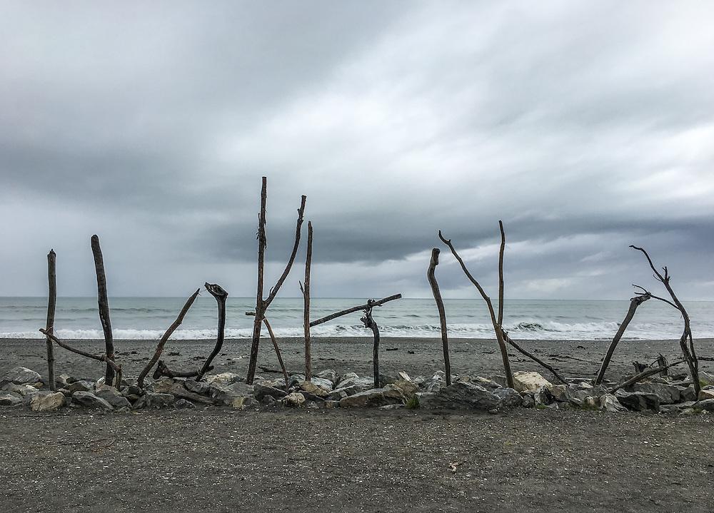 The beach at Hokitika