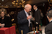TONY ANDREW, David Campbell Publisher of Everyman's Library and Champagen Bollinger celebrate the completion of the Everyman Wodehouse in 99 volumes and the 2015 Bollinger Everyman Wodehouse prize shortlist. The Archive Room, The Goring Hotel. London. 20 April 2015.