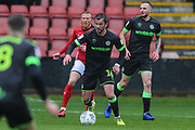 Forest Green Rovers Gavin Gunning(16) on the ball during the EFL Sky Bet League 2 match between Crewe Alexandra and Forest Green Rovers at Alexandra Stadium, Crewe, England on 27 April 2019.