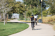 Bike Riding on the Jeffrey Open Space Trail in Irvine California