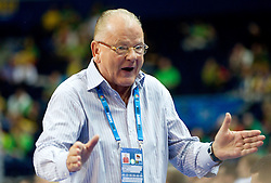 Dusan Ivkovic, head coach of Serbia during basketball game between National basketball teams of Serbia and Turkey at FIBA Europe Eurobasket Lithuania 2011, on September 11, 2011, in Siemens Arena,  Vilnius, Lithuania. Serbia defeated Turkey 68-67. (Photo by Vid Ponikvar / Sportida)