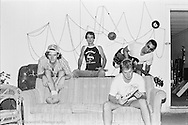 1986-Tulum at the Rabid Cat studio on Ave. H??? and some shots taken at the practice space in the storage space off Webberville road. Besides the band there are a couple of shots of Mike Chester the recording engineer and NFS band member.