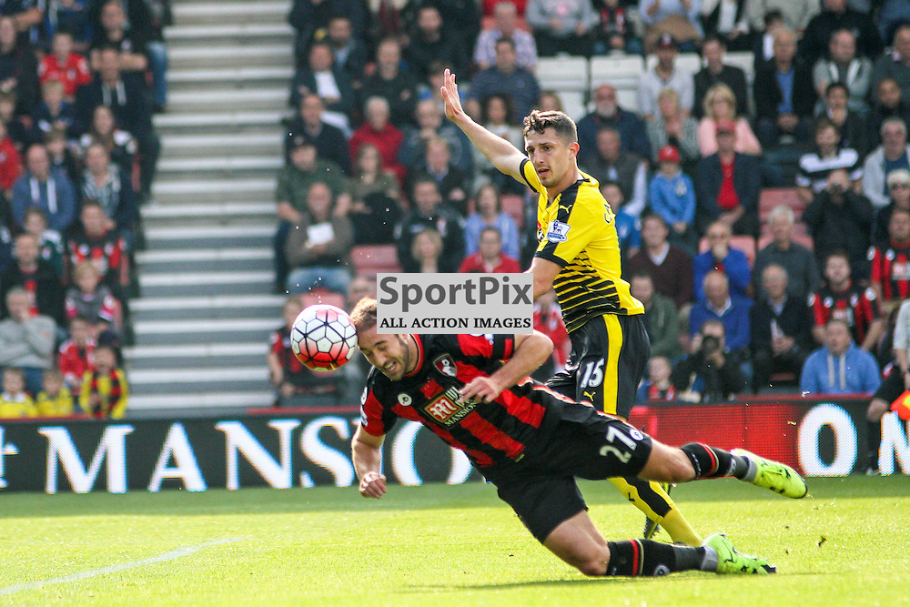 Glen Murray looks to head the ball During Bournemouth vs Watford on Saturday 3rd of October 2015.