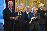 Rome dec 21th 2015, swearing-in ceremony of  new Constitutional Court members. In the picture Giulio Prosperetti, Augusto Barbera, Franco Modugno