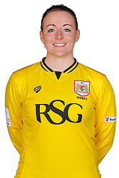 Hannah Reid of Bristol City Women poses for a headshot - Mandatory byline: Rogan Thomson/JMP - 21/02/2016 - FOOTBALL - Stoke Gifford Stadium - Bristol, England - Bristol City Women Team Photos.