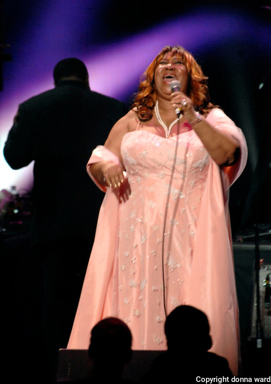 Aretha Franklin performs at The Dream Concert to Benefit the Martin Luther King, Jr National Memorial at Radio City Music Hall in New York City, USA on September 18, 2007.