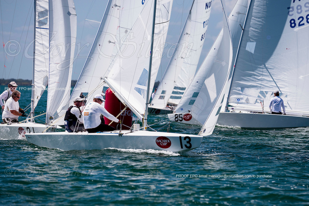 8490 Star Class sailing in Bacardi Miami Sailing Week, day one.