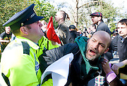 Protest at the Labour conference at NUIG turned nasty as the Protestors breached the Gardai blocades.Photo:Andrew Downes.