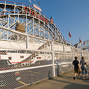 The Cyclone roller coaster, built in 1927, is one of the nation's oldest wooden roller coasters still in operation. It is operated by Astroland at the Coney Island amusement park in Brooklyn, New York City. The Cyclone is a NYC landmark and recognized by the National Register of Historic Places.