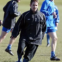 St Johnstone Training...08.03.04<br />Paul Bernard during training this morning after Saturday's victory over Clyde hoping to continue the winning ways over Falkirk tomorrow night.<br />see story by Gordon Bannerman Tel: 01738 553978 or 07729 865788<br />Picture by Graeme Hart.<br />Copyright Perthshire Picture Agency<br />Tel: 01738 623350  Mobile: 07990 594431