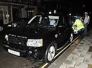 15.JUNE.2009 - LONDON<br /> <br /> GUY RITCHIE WHO LEFT HIS PUB THE PUNCHBOWL IN MAYFAIR AT 2.00AM IN HIS CAR DRIVEN BY HIS DRIVER GETS PULLED OVER BY THE POLICE ON DAVIES STREET, MAYFAIR WHERE HIS DRIVER GOT BREATHALISED AND BOTH GUY AND THE DRIVER HAD NO SEATBELTS ON, THE POLICE THEN DROVE GUY'S CAR WITH GUY SITTING IN THE BACK SEAT AND THE DRIVER IN THE FRONT SEAT TRYING TO COVER UP HIS FACE AS THEY WERE BEING DRIVEN OFF BY THE POLICE.<br /> <br /> <br /> BYLINE: EDBIMAGEARCHIVE.COM<br /> <br /> *THIS IMAGE IS STRICTLY FOR UK NEWSPAPERS &amp; MAGAZINES ONLY* <br /> *FOR WORLDWIDE SALES OR WEB USE PLEASE CONTACT EDBIMAGEARCHIVE - 0208 954 5968*