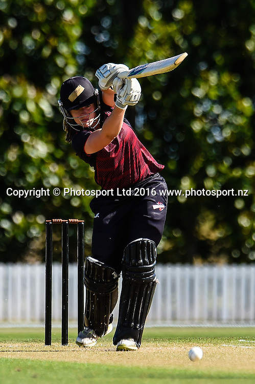 FL Mackay of Canterbury during Womens T20 Cricket match, Northern Spirit v Canterbury Magicians, Bert Sutcliffe Oval, Lincoln, New Zealand, 27th December 2016. Copyright Photo: John Davidson / www.photosport.nz