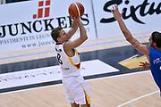 DESCRIZIONE : Trento Nazionale Italia Uomini Trentino Basket Cup Italia Germania Italy Germany <br /> GIOCATORE : Heiko Schaffartzik<br /> CATEGORIA : tiro three points<br /> SQUADRA : Germania Germany<br /> EVENTO : Trentino Basket Cup<br /> GARA : Italia Germania Italy Germany<br /> DATA : 01/08/2015<br /> SPORT : Pallacanestro<br /> AUTORE : Agenzia Ciamillo-Castoria/Max.Ceretti<br /> Galleria : FIP Nazionali 2015<br /> Fotonotizia : Trento Nazionale Italia Uomini Trentino Basket Cup Italia Germania Italy Germany