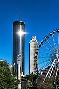 Weston Hotel and city skyline, Atlanta, Georgia, USA