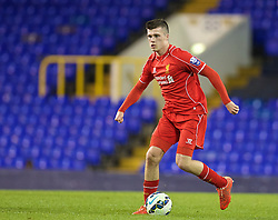 LONDON, ENGLAND - Friday, April 17, 2015: Liverpool's Alex O'Hanlon in action against Tottenham Hotspur during the Under 21 FA Premier League match at White Hart Lane. (Pic by David Rawcliffe/Propaganda)