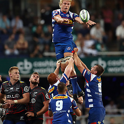 DURBAN, SOUTH AFRICA - APRIL 21: Pieter-Steph du Toit of The DHL Stormers during the Super Rugby match between Cell C Sharks and DHL Stormers at Jonsson Kings Park on April 21, 2018 in Durban, South Africa. (Photo by Steve Haag/Gallo Images)
