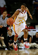 Maryland recruit Marah Strickland dribbles the ball upcourt during the McDonald's All American High School Basketball Games at Freedom Hall in Louisville, Kentucky on March 28, 2007.