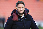 Lee Johnson manager during the Sky Bet League 1 match between Barnsley and Rochdale at Oakwell, Barnsley, England on 23 January 2016. Photo by Daniel Youngs.